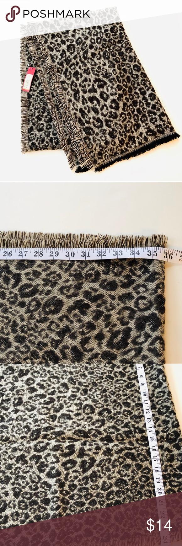 NWT Merona Cheetah Print Blanket Scarf