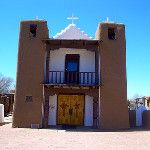 Taos Pueblo historic San Geronimo (St. Jerome) Church built in 1850