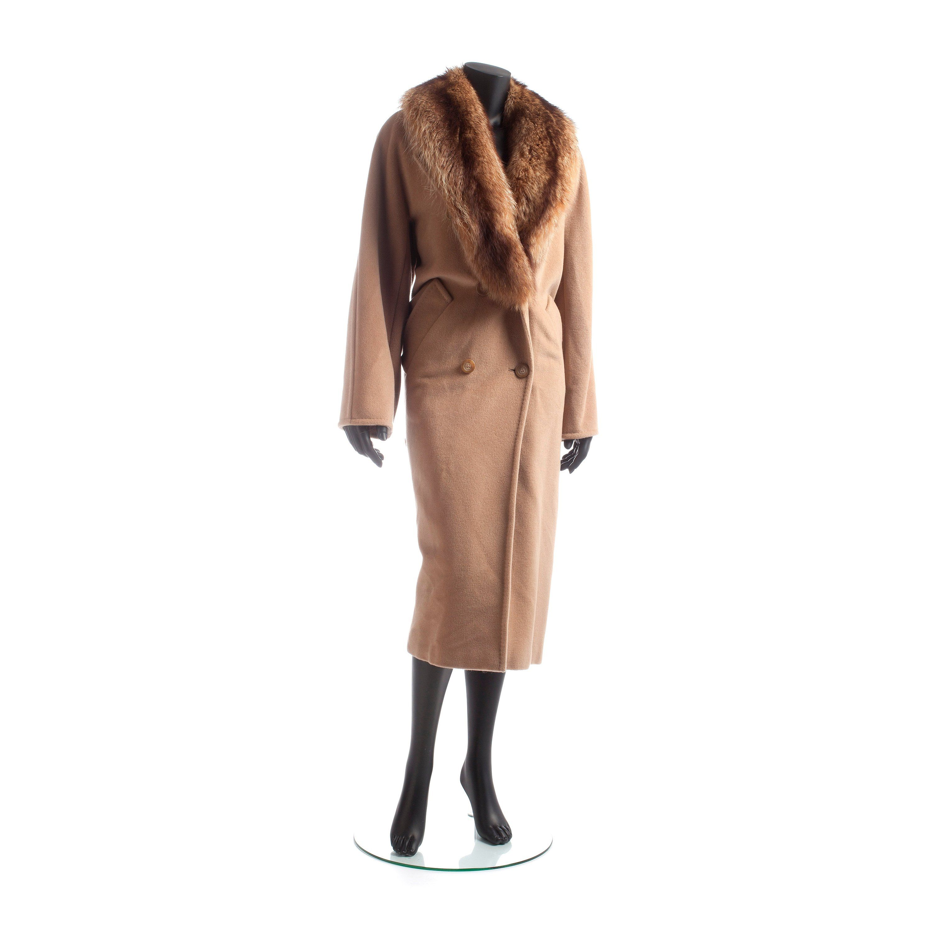 Vintage MAX MARA, a beige wool and cashmere coat with removable ...