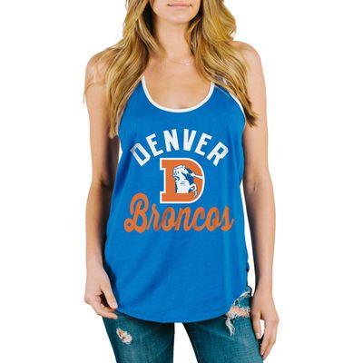 b502ba19 Junk Food Denver Broncos Women's Royal Goal Line 1-Hit Ringer Tank ...