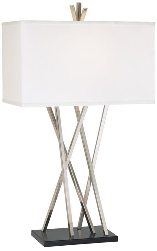 Modern Asymmetry Possini Euro Design Table Lamp EU48 Euro Interesting Contemporary Table Lamps Living Room Style