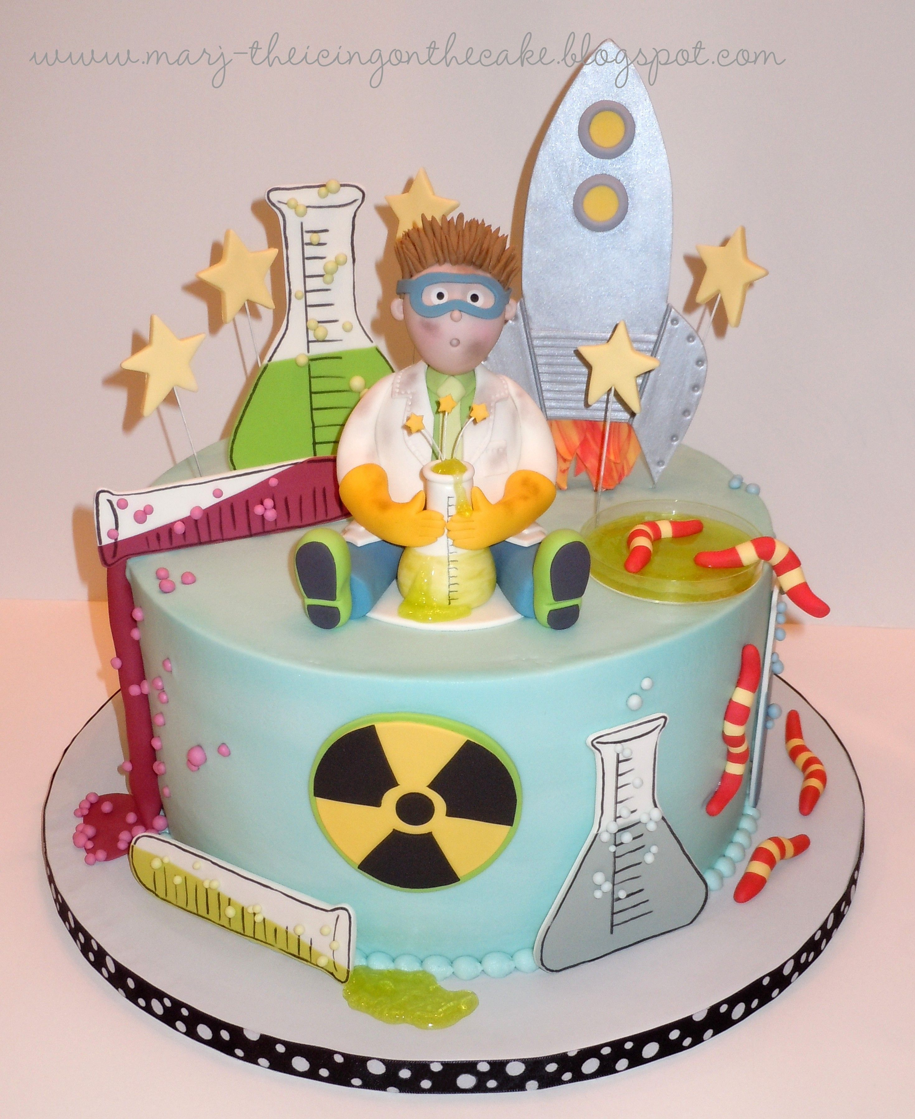 Amazing Mad Scientist With Images Science Cake Birthday Cake Kids Personalised Birthday Cards Petedlily Jamesorg