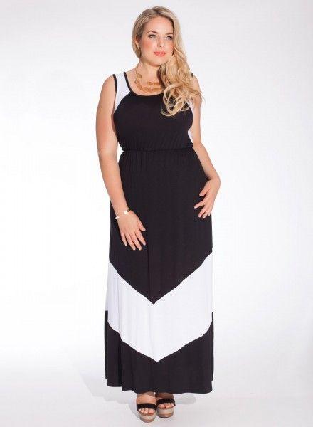 0403cd73dcea Maxi šaty pro plnoštíhlé Gia Nadmerné Oblečenie