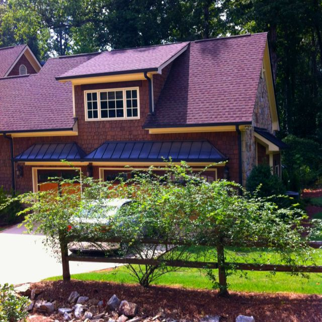 Roofing with standard shingles.