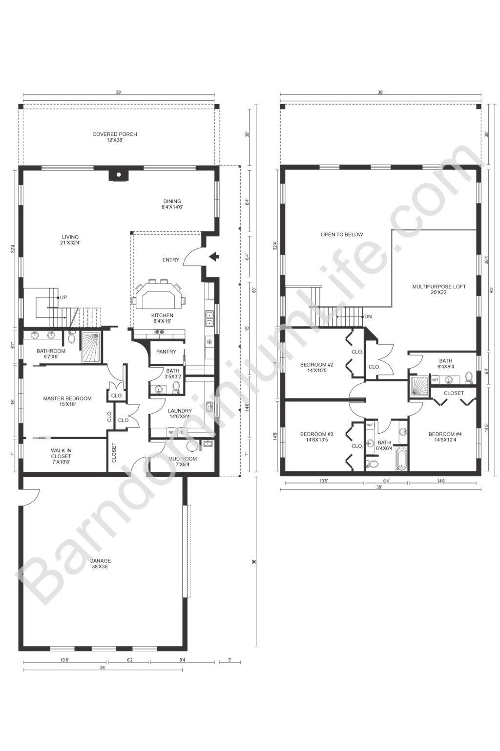 Unique Barndominium Floor Plans with Loft To Suit Any Lifestyle