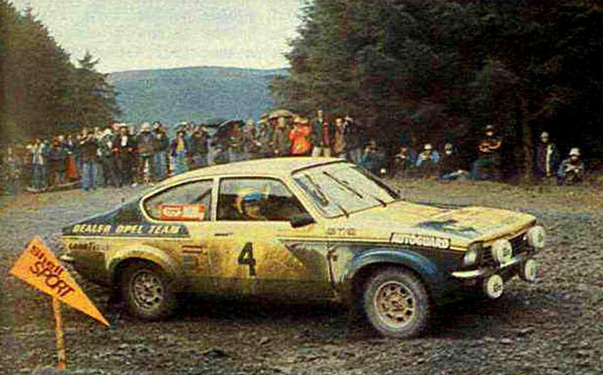 1977 international welsh rally r hrl walter broad mike opel kadett gt e