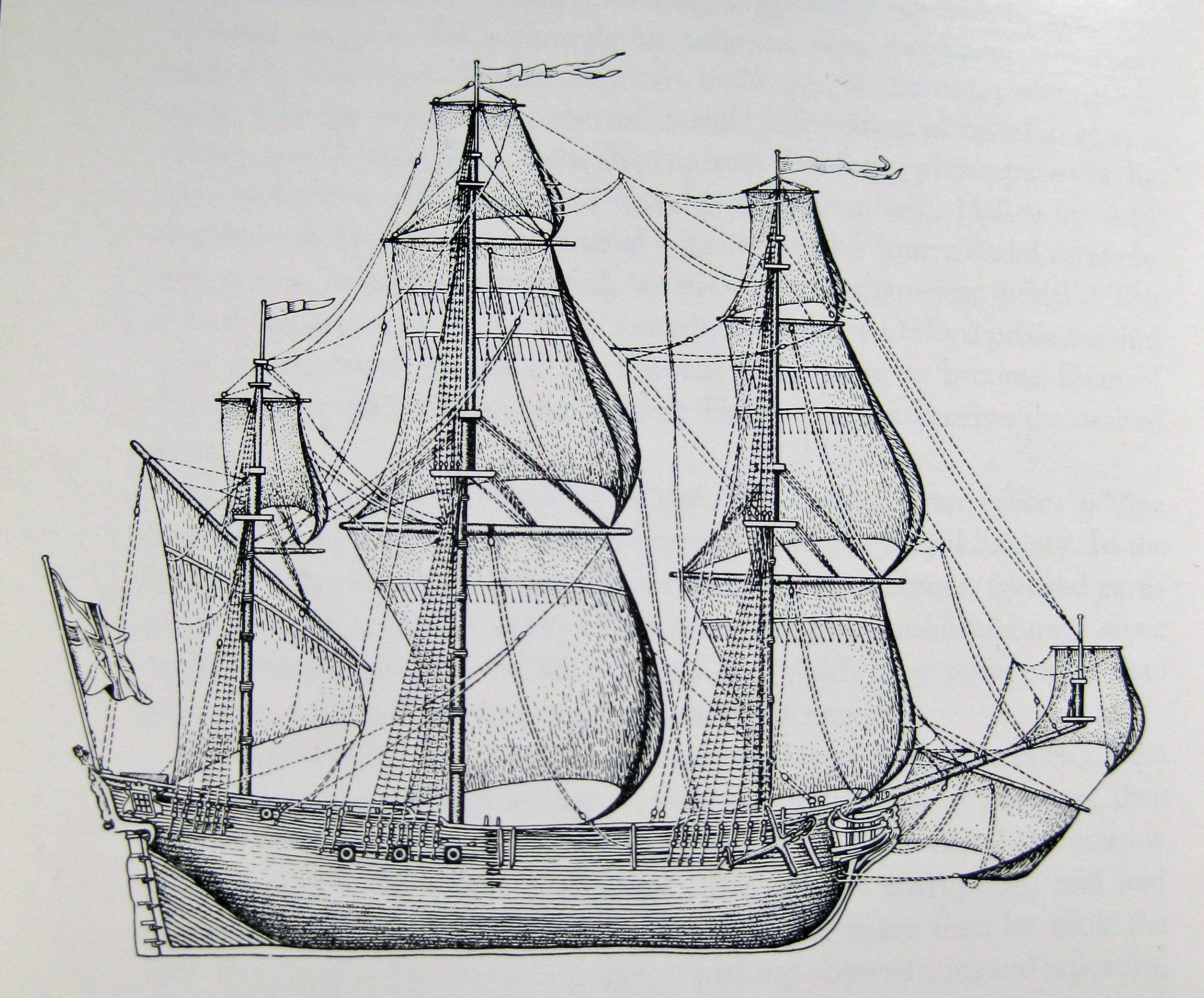 Old Ship Drawing Drawing Reconstructing Hms Ships Paintings