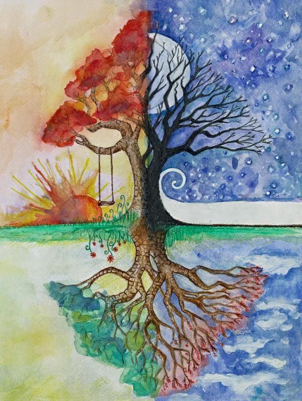 Solstice Moon Solstice Sun By Maire Durkan And Illustrated By Her Daughter Ellen Durkan Seasons Art Tree Art Tree Of Life Art