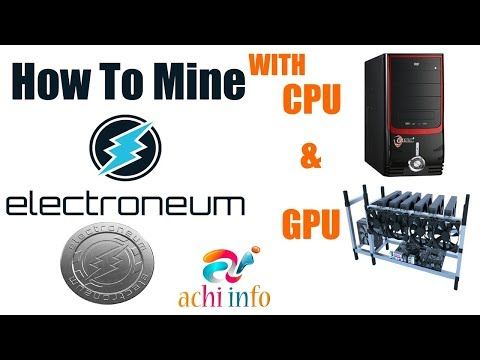 How to mine cryptocurrency cpu