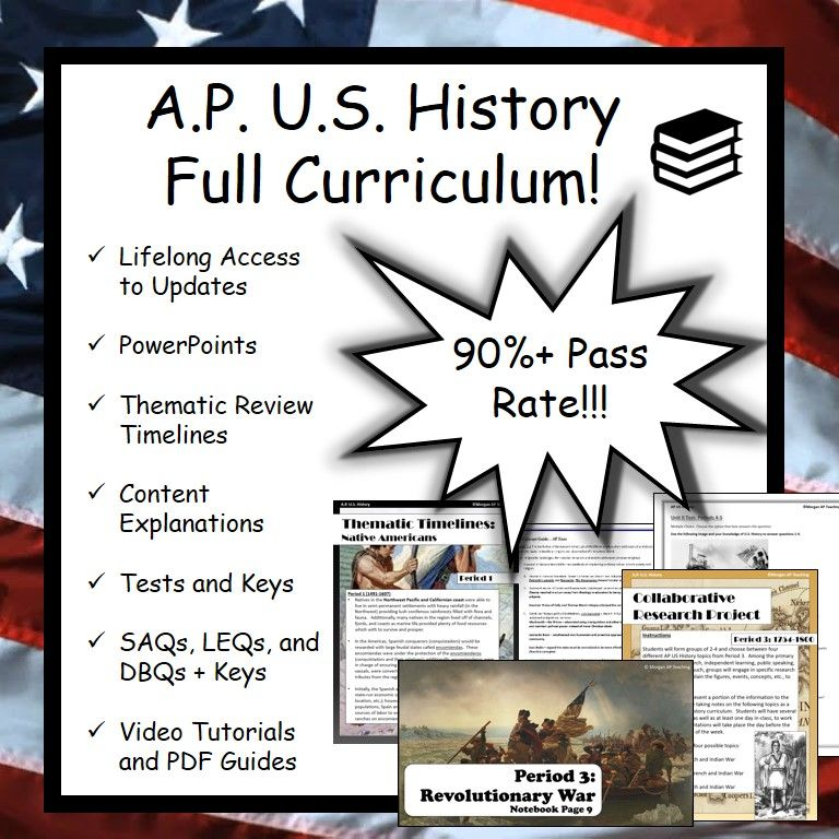 Ap Us History Apush Full Curriculum Ap Us History Social Studies Notebook History Lesson Plans