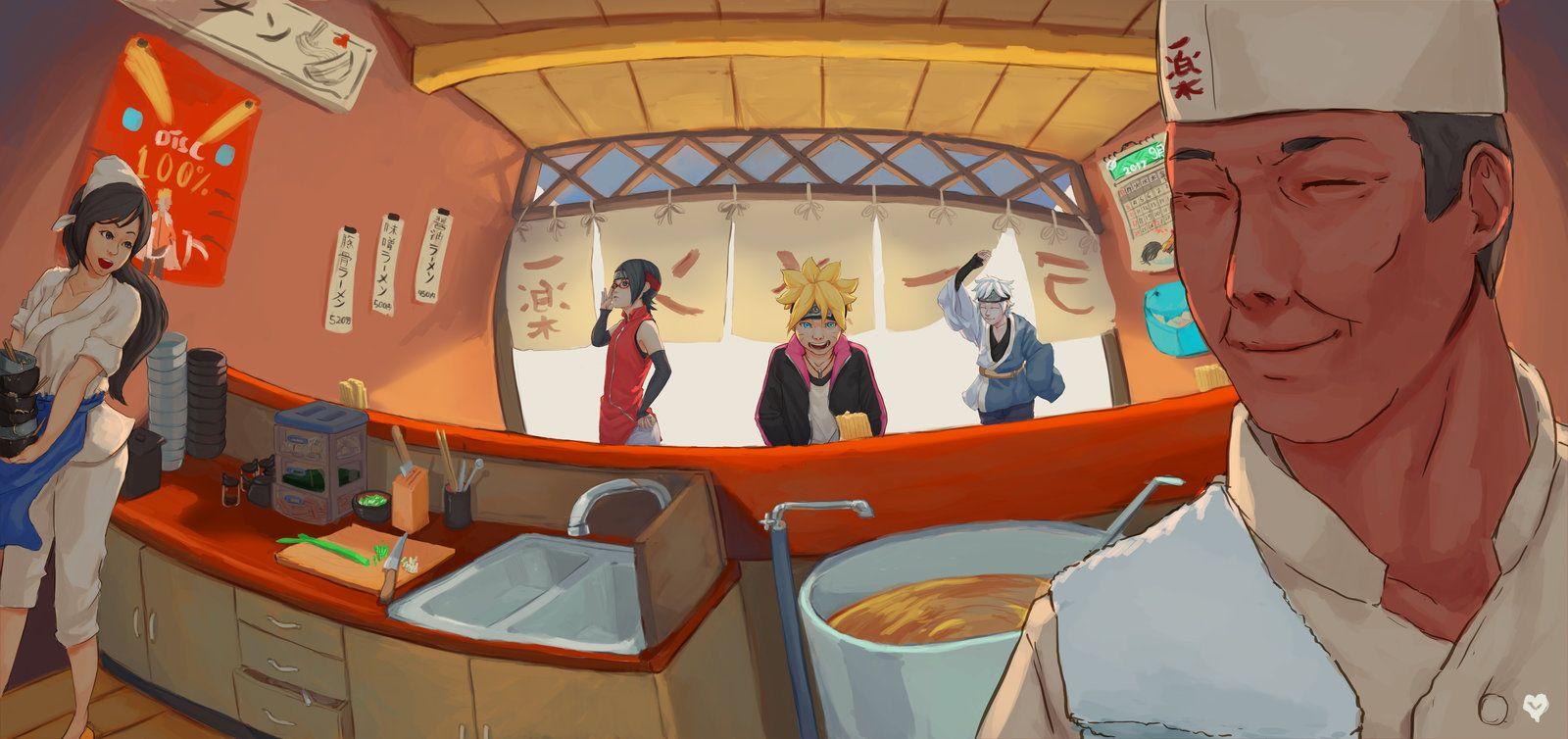 Ichiraku Ramen by Vinlynt Anime, Papeis de parede, Lamen
