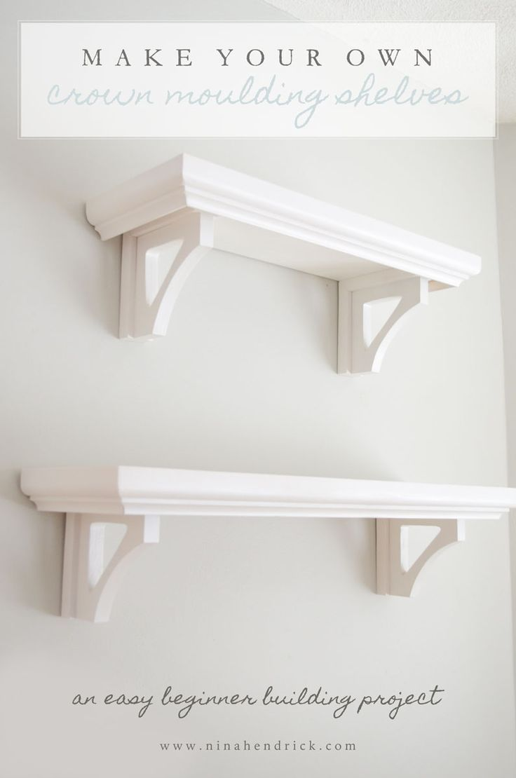 build your own diy crown moulding shelves | crown molding shelf