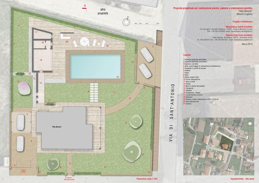 Progetto Ristrutturazione Villa Realizzazione Palestra Piscina E Sistemazione Del Giardino Picture Gallery Projects Floor Plans Villa
