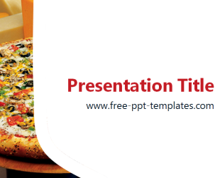 pizza powerpoint template is a white template with background image