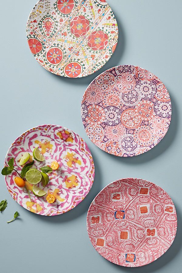 Slide View 1 Tula Melamine Dinner Plate Set $40 (red) & Tula Melamine Dinner Plate | Dinner plate sets Dinnerware and Kitchens