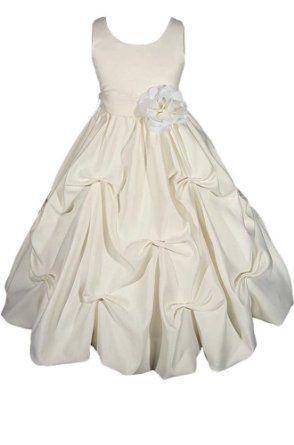 98fdc33526258 Amazon.com: AMJ Dresses Inc Girls Ivory Flower Girl Wedding Dress Sizes 2  to 10: Clothing