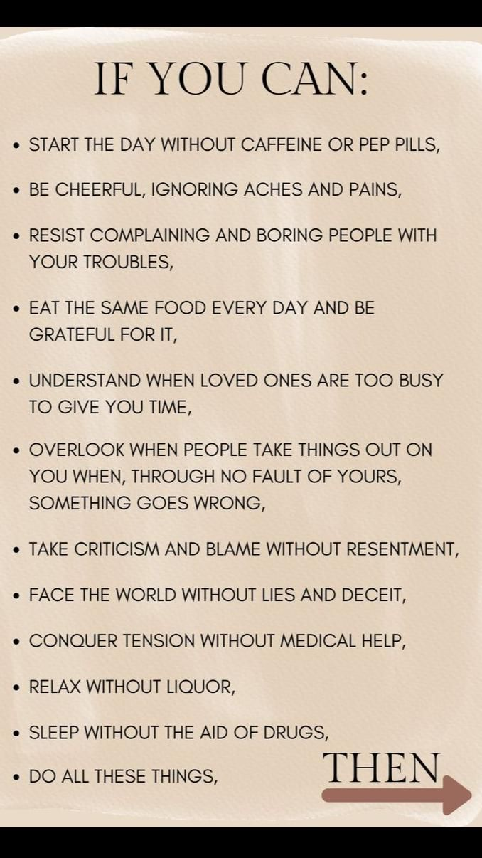 If you can do all of this on any given day, then...