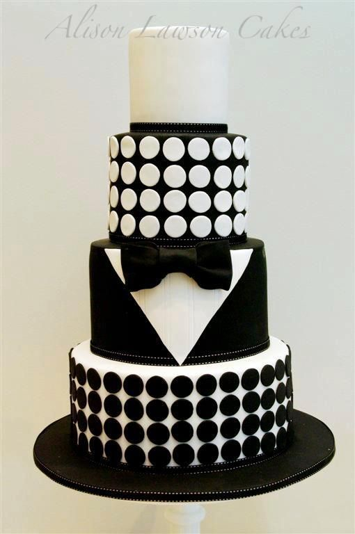 James Bond Inspired Cake By Alison Lawson Cakes Instead Of Dots Have Cards Women Etc On The Different Layers