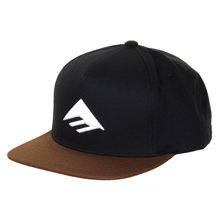 cb6a944db Emerica Triangle Snapback Cap - Black/Brown | CLOTH | Snapback cap ...