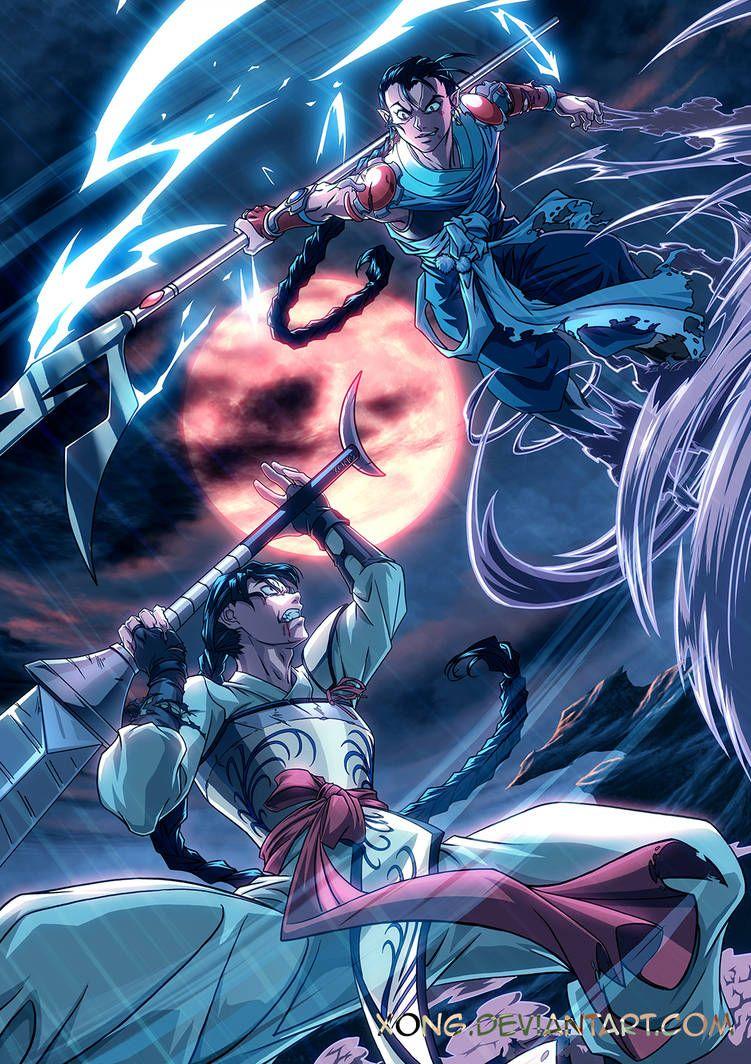 Commission bankotsu and hiten fight by xong on deviantart