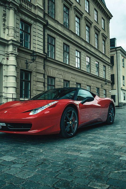 Red Ferrari 458 Italia W Black Top Carros Velozes Carros