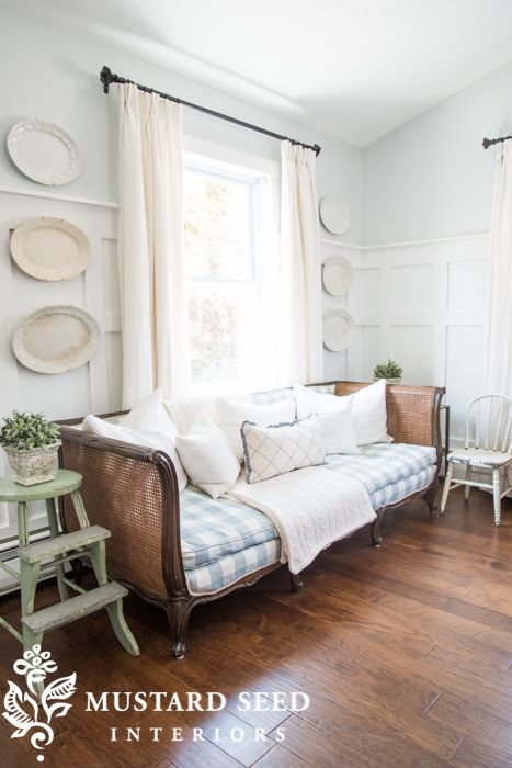 Love the Family Room Wainscoting - Miss Mustard Seed