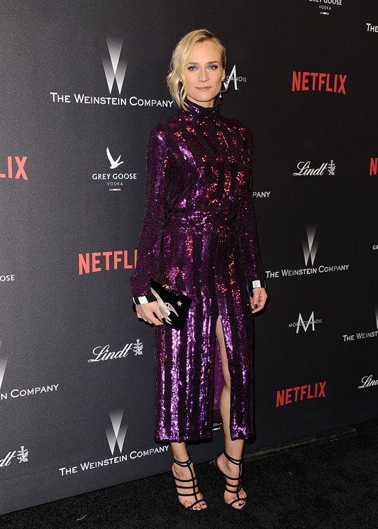 Diane Kruger in Nina Ricci, clutch Charlotte Olympia, scarpe Giuseppe Zanotti Design