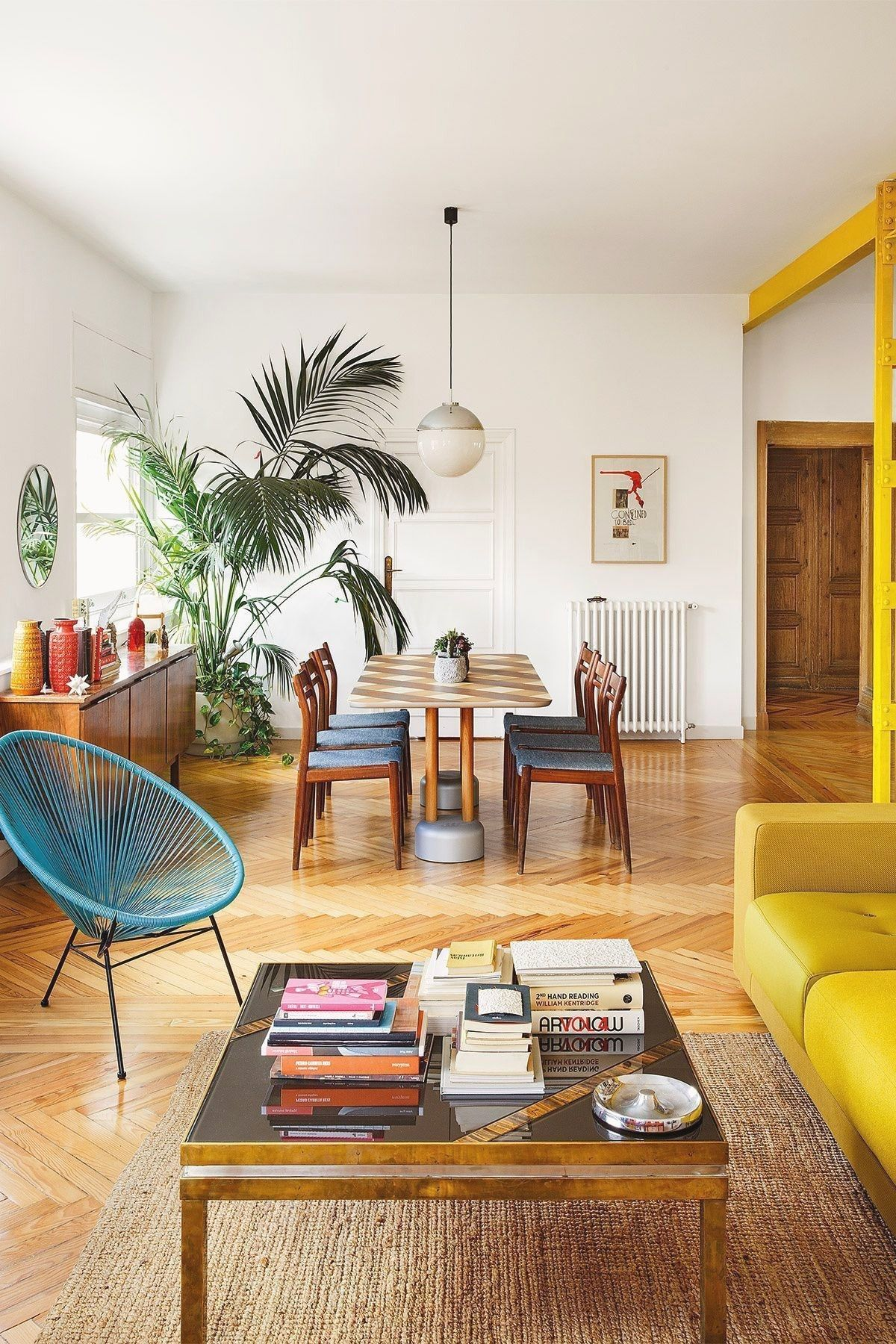 We Intended To Make The Room Feel Mid Century Modern Without Trying Too Hard I Believe Fre Apartment Interior Design Apartment Interior Home Interior Design
