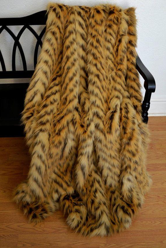 Faux Fur Throw Blanket Lion's Mane Chevron Throw Fur Bedding Impressive Lion Blanket Or Throw