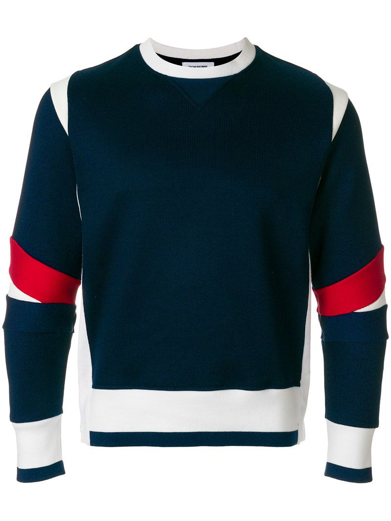 8a5382a35 THOM BROWNE ARTICULATED CREWNECK JERSEY SWEATSHIRT. #thombrowne #cloth #