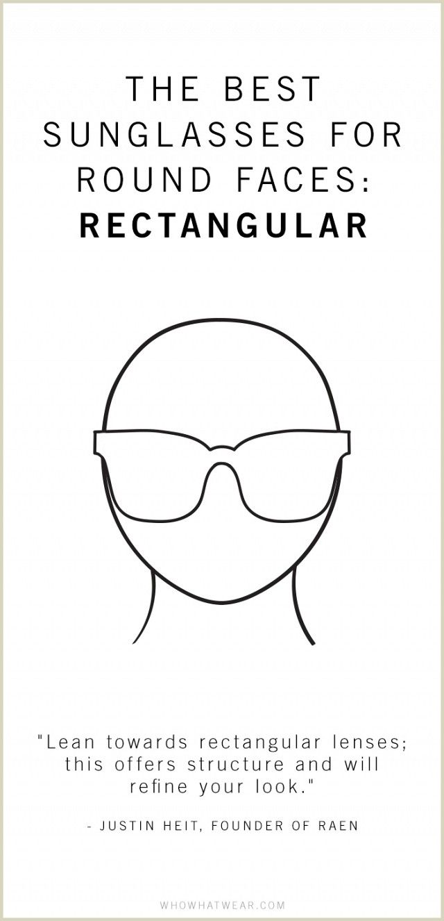 The Ideal Sunglasses Shape for Round Faces | Olsen, Rounding and Sunnies
