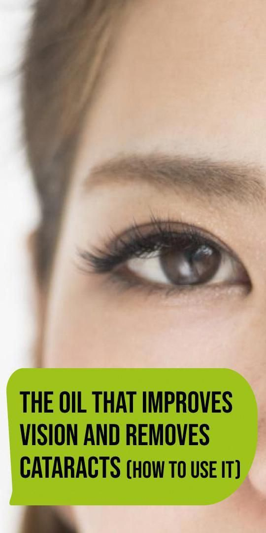 The Oil That Improves Vision and Removes Cataracts (How to Use It) #improvevision #health #fitness #...