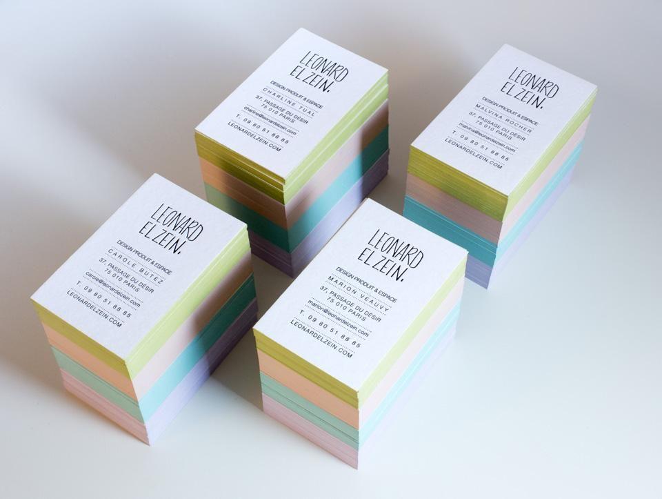 Cartes De Visite Imprimees En Letterpress Noir Sur Papier Extra
