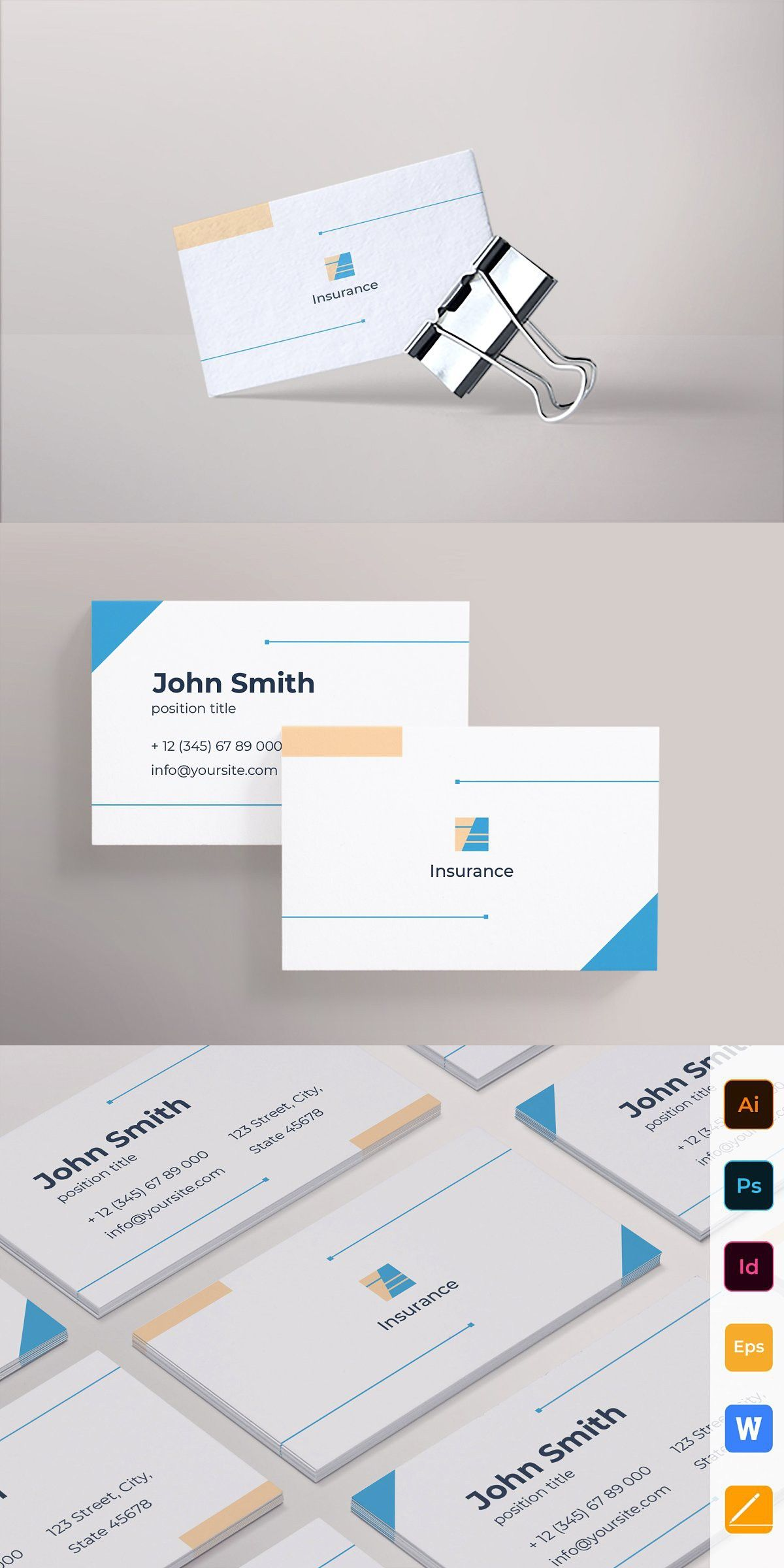 Insurance agency business card agency business cards