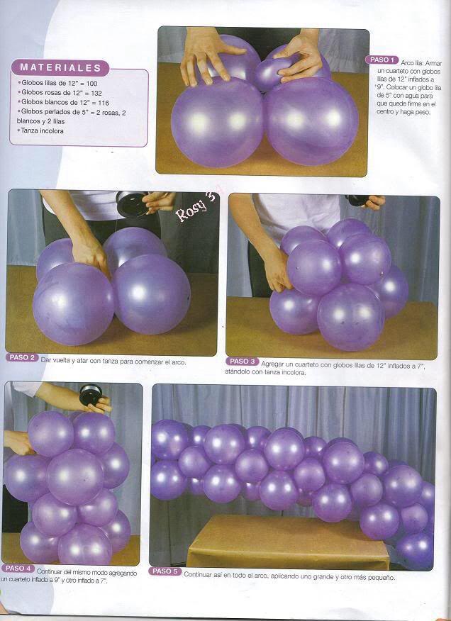 Arco con 2 medidas Parties Pinterest Arco, Globo y Decoración - imagenes de decoracion con globos