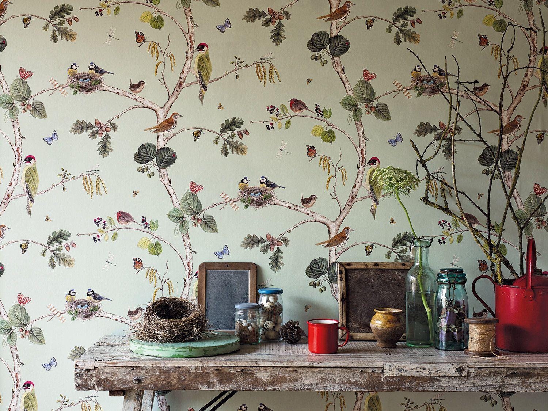 Per muro carta adesiva per pareti cucina bagno moderna pietra 40cmx2m. Delicate Spring Wallpaper By Sanderson Mural Wallpaper Romantic Wallpaper Wallpaper