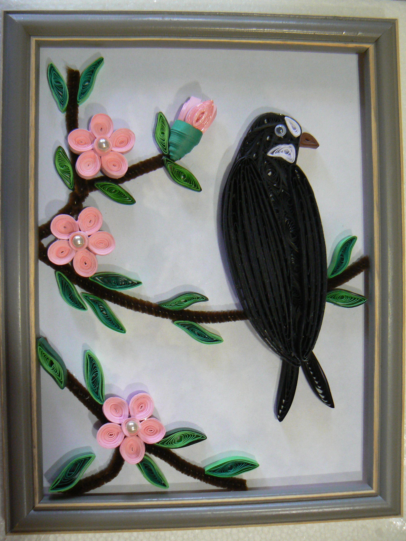 Tableau hirondelle réalisé par Christiane | Quilling wildlife ...