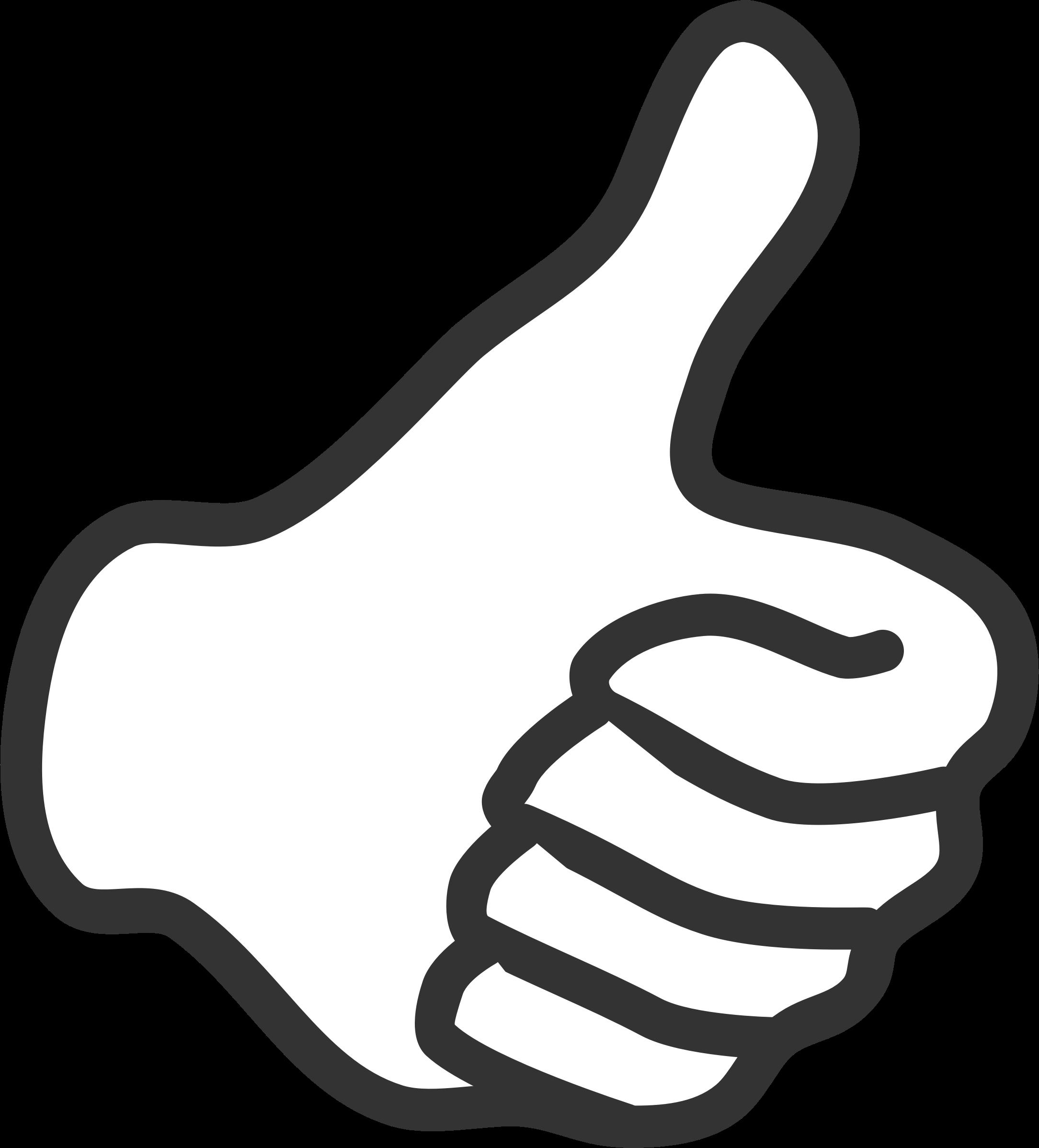 Clipart Thumb Up White Png Jempol Dekorasi Pengeditan Foto
