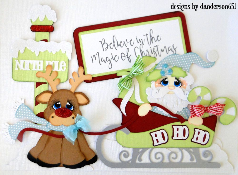 CHRISTMAS TIME Die Cuts Paper Piecing Scrapbook Page Kit