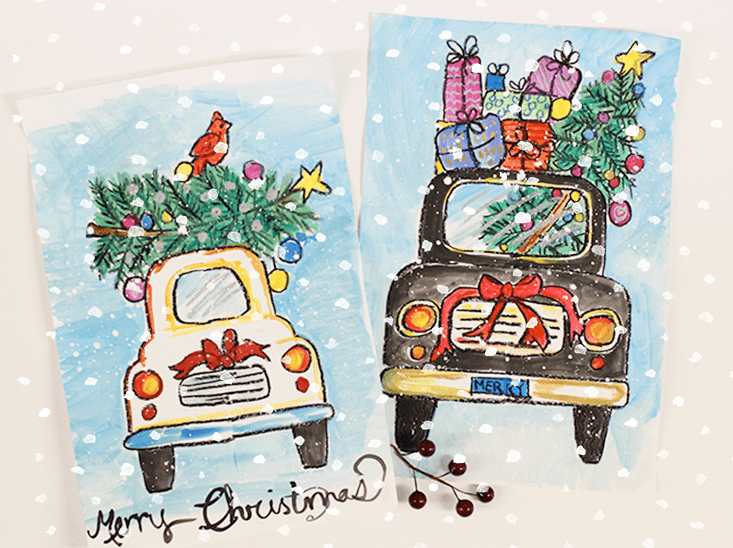 Photo of How to Draw a Christmas Car | Deep Space Sparkle