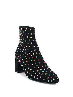 Saint LaurentBetty Stras Jeweled Mid Calf Boots