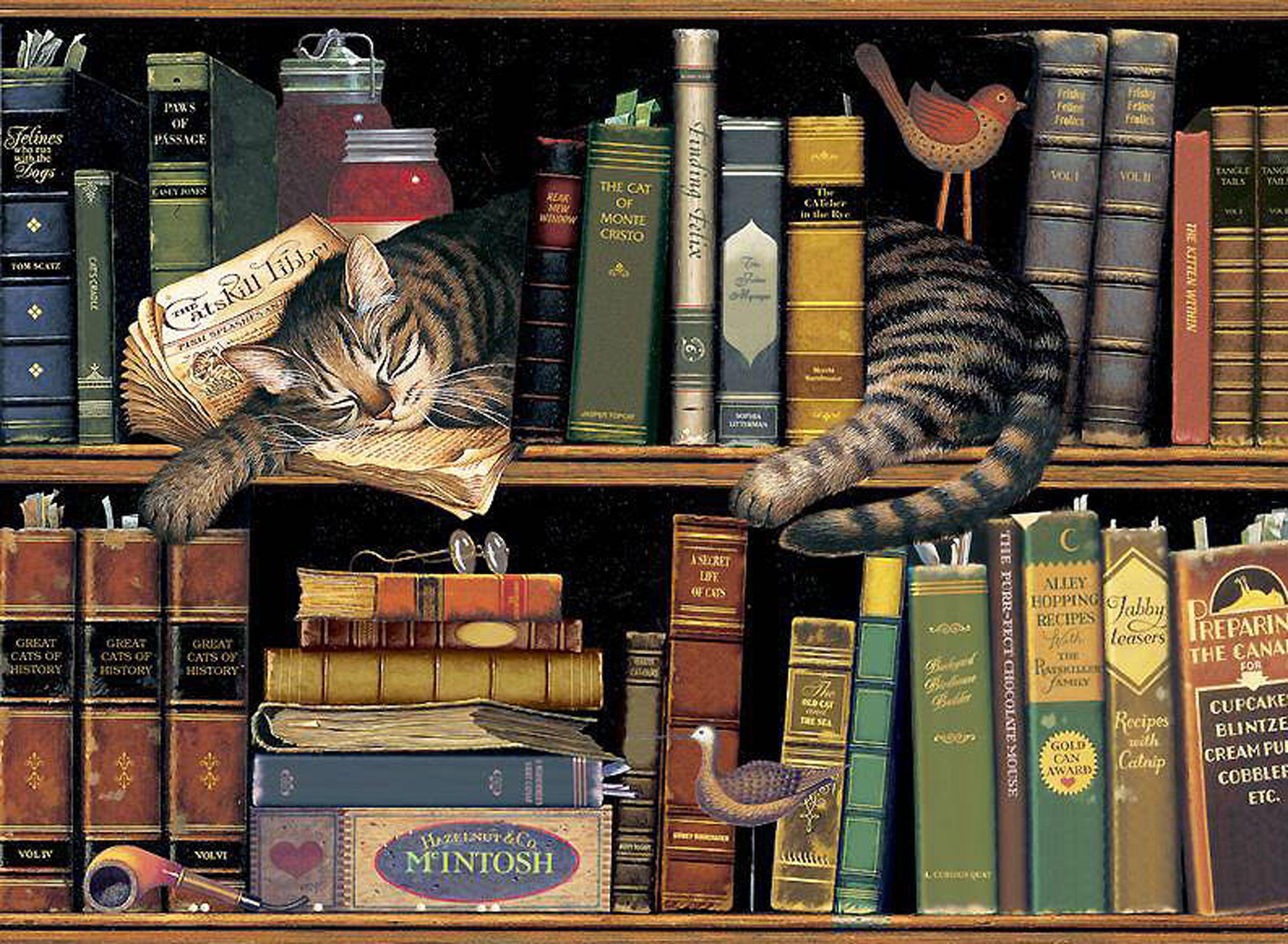 Charles Wysocki Cat Painting Americana Art Nostalgic Art