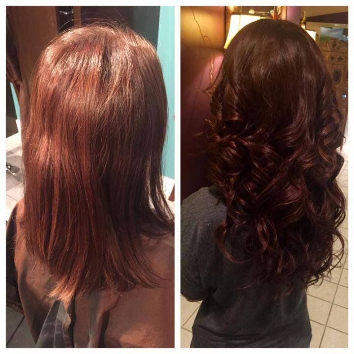 Fabulous before and after extensions by Caitlyn!