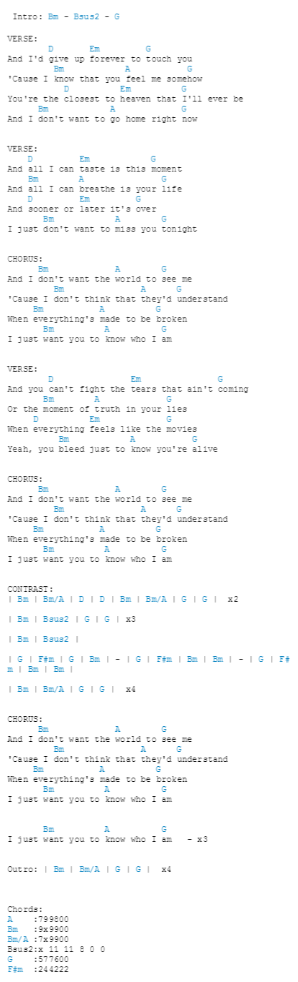 Iris Goo Goo Dolls Chord : dolls, chord, Dolls, Guitar, Songs,, Lyrics, Chords,