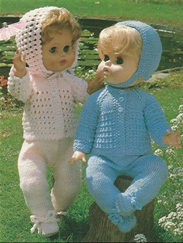 85f68387c341 Dolls Clothes Knitting Pattern PDF for 18 and 20 inch Baby Doll Pram ...