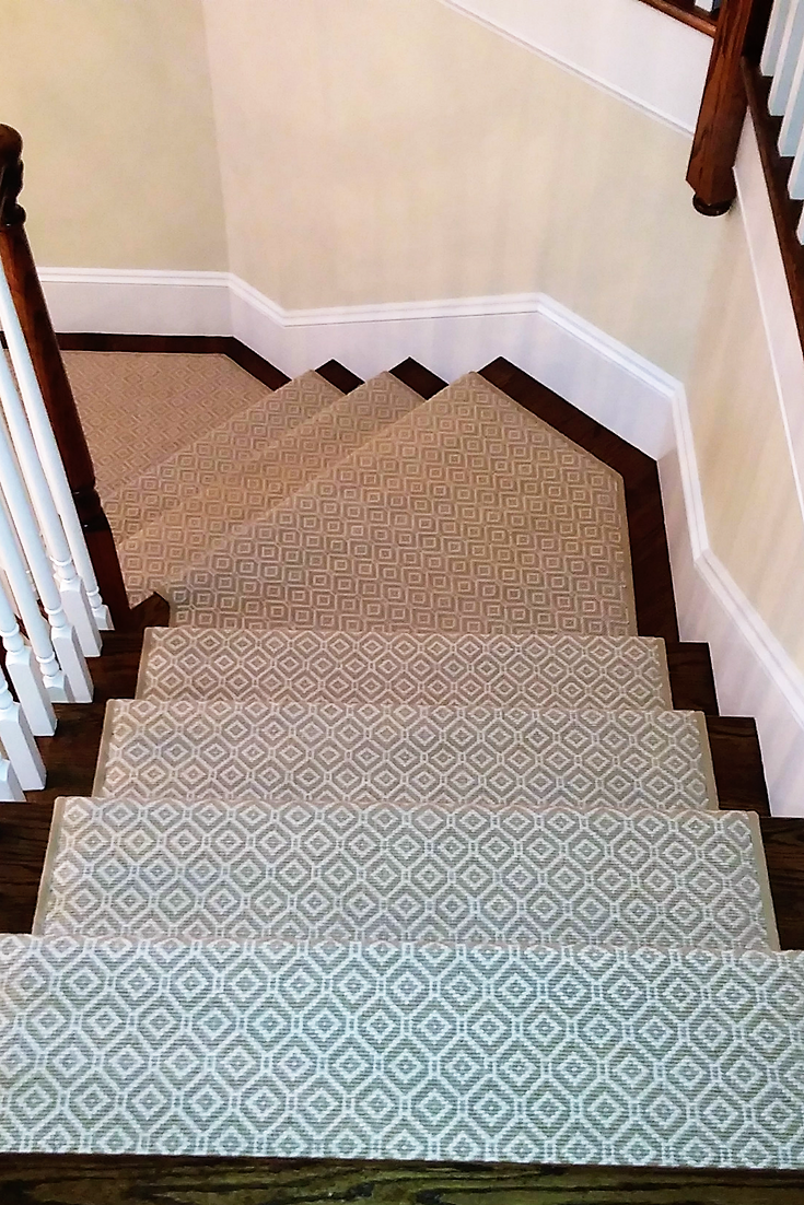 Our Diamond Pattern Stair Runner Carpet Dresses Up This Classic