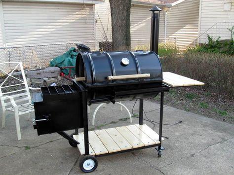 Home Built Offset Bbq Custom Smokers Smoker Plans Diy Bbq