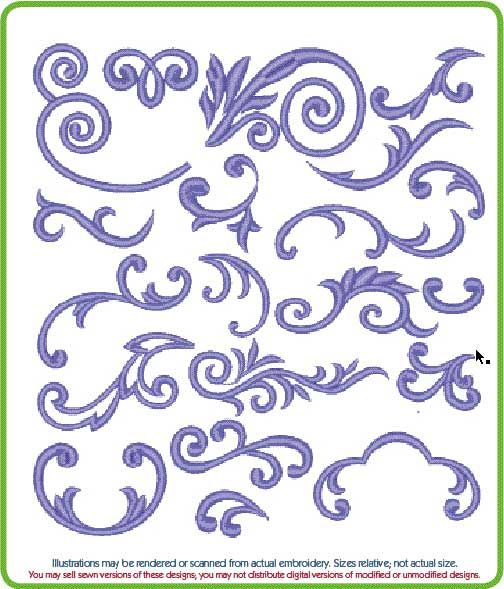 many swirls.....these would be cute on cupcakes/cake