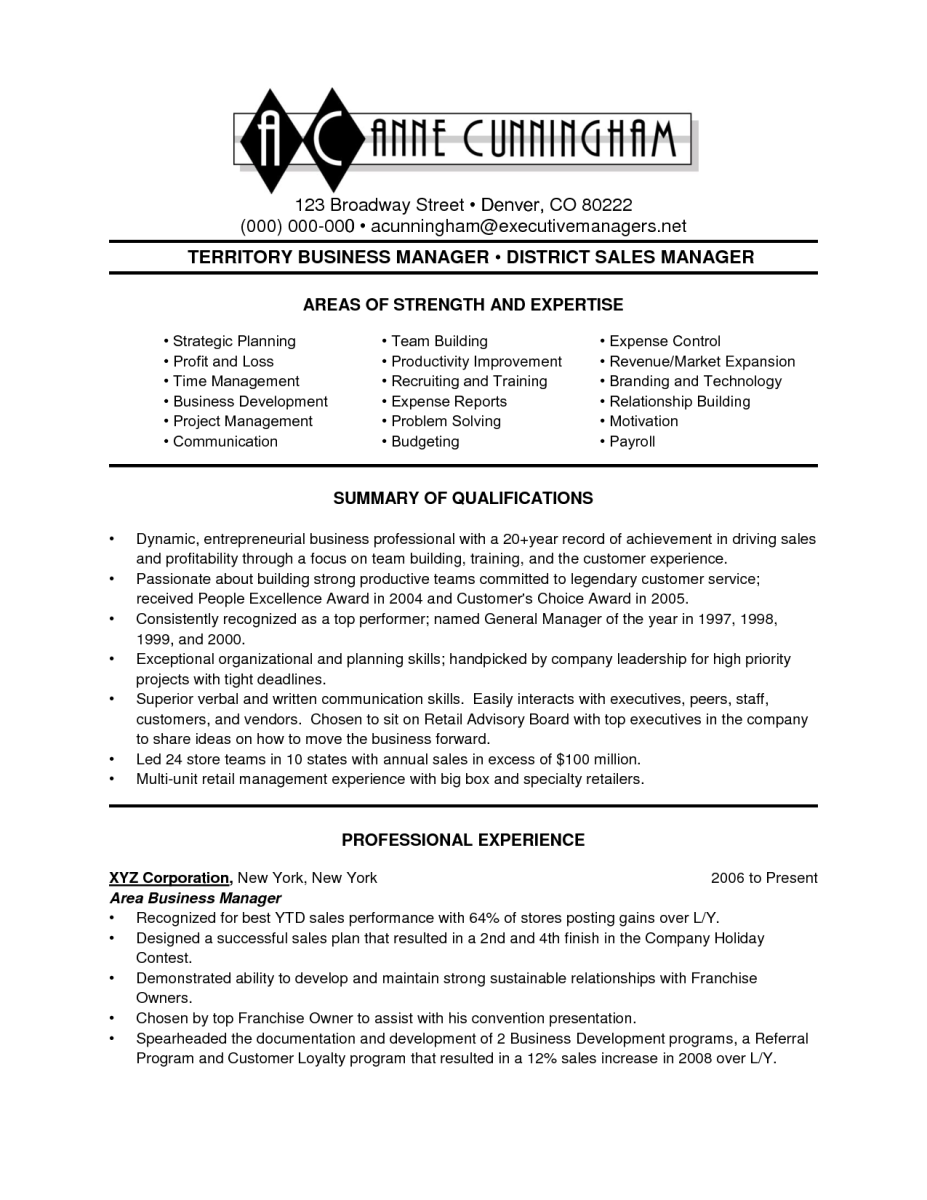 13 Business Resume Example | Sample Resumes | Sample Resumes | Pinterest