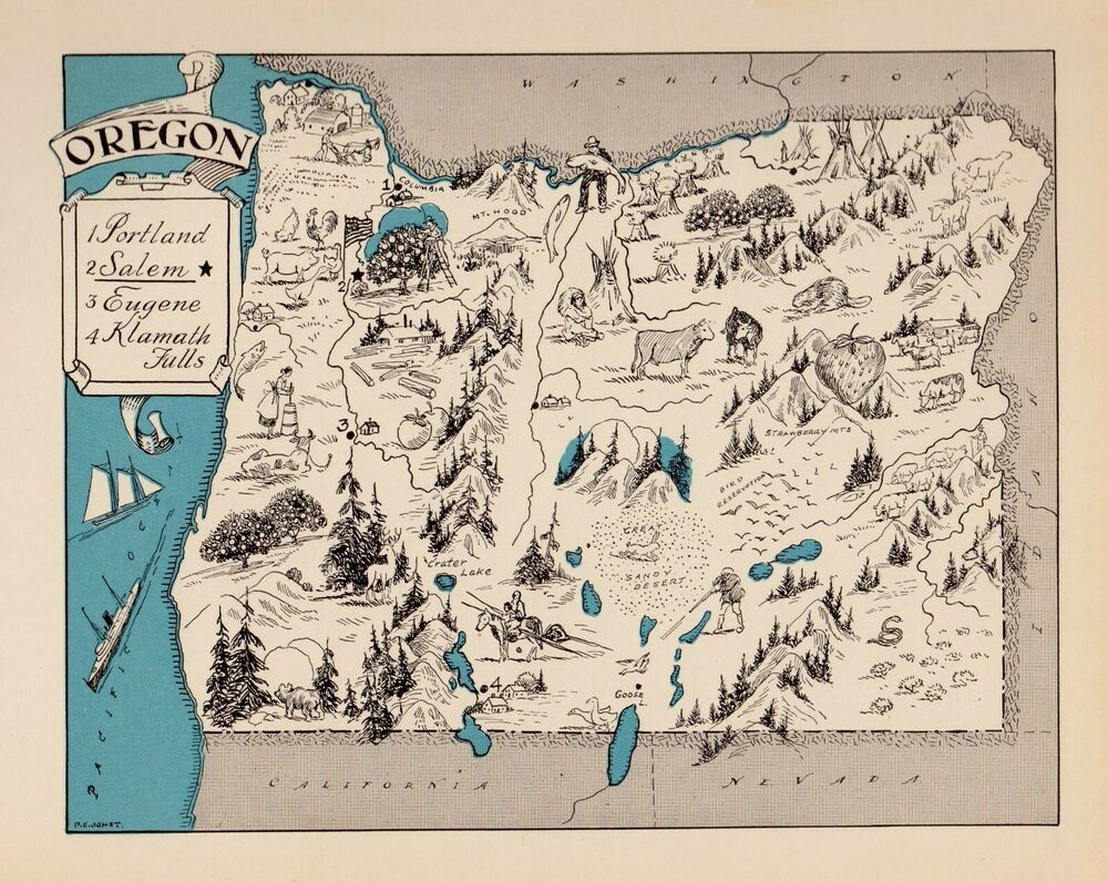 1930s Animated MISSISSIPPI State Map RARE Map Reprint Map of Mississippi usbl